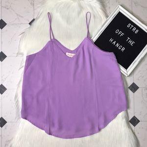 NWOT Alythea purple spaghetti strap blouse size M